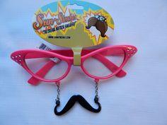 Pink Cat Eye Sun-Staches $10