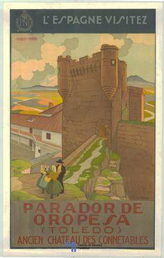 1930 #Spain #Poster #vintage Castilla-La Mancha