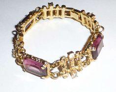 Mod Vintage Sarah Coventry Bracelet Purple by VintageGirlStuff, $25.99
