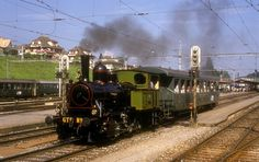 GTB Nr.2 Spiez 15.08.86 Bern, Steam Locomotive, Around The Worlds, Train, History, Trains, Pictures, Historia, History Activities