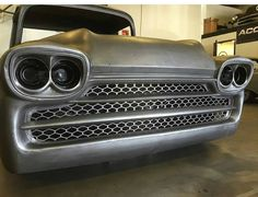 Custom Chevy pickup grillwork