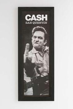 Johnny Cash San Quentin Framed Wall Art
