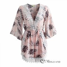 31dc71bcff4 Ladies blush floral print plunge playsuit for wholesale - playsuits