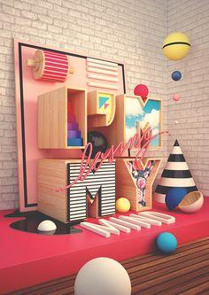 ventanas con mundos de color de texturas sonoras