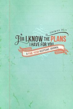 For I Know the plans: An Inspirational Five-Year Journal - Import It All