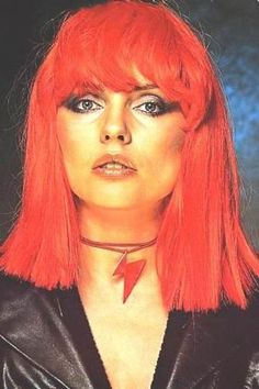 Debbie Harry aka Blondie in Red Wig.