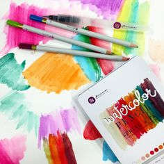 Prima Watercolor Pencils - Scrapbook.com - Color with these creamy Prima watercolor pencils, add water and voila! You have beautiful watercolor art! The Scrapbook.com team couldn't resist trying them out!