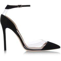 Gianvito Rossi Closed-Toe Slip-Ons ($810) ❤ liked on Polyvore featuring shoes, pumps, heels, black, leather pumps, black closed toe pumps, black leather pumps, heels & pumps and black heel shoes