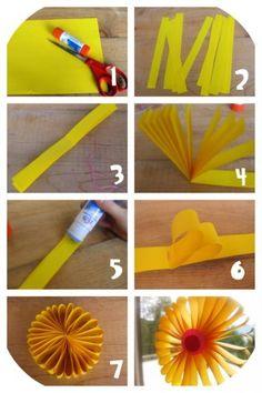 fleur géante en papier | bricolage