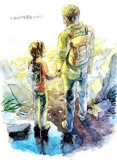 Joel and Ellie - The Last of Us. This picture is beautiful.