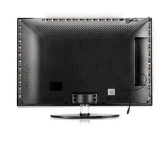 TV Hintergrundbeleuchtung USB Led Streifen 4x40cm 5050 SMD RGB LED Strip und 4x50cm flexible Verbindungen dynamisch dimmbar mit IR Fernbedienung für TV Computer Monitor: Amazon.de: Beleuchtung