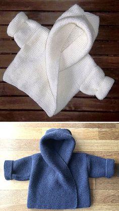 Baby Hooded Wrap Cardigan - Knitting Pattern - knitting is as easy as . Baby Hooded Wrap Cardigan – Knitting Pattern – Knitting is as easy as 3 Knitting boils do Baby Knitting Patterns, Knitting Stitches, Baby Patterns, Free Knitting, Baby Cardigan Knitting Pattern Free, Crochet Baby, Knit Crochet, Loom Knit, Crochet Cardigan