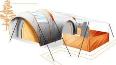 Solar-powered LEDs light up the Star Gazer tent at night | Designbuzz : Design ideas and concepts
