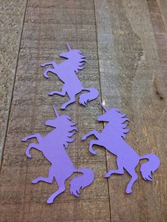 Purple Unicorn Table Confetti / Magical Mythical Creature