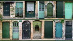 21  Rue verte. Miniature doors.