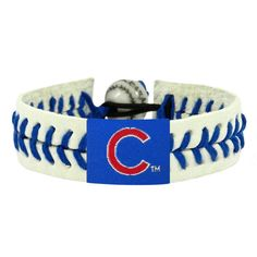 Chicago Cubs Baseball Bracelet  #ChicagoCubs #Cubs #FlyTheW
