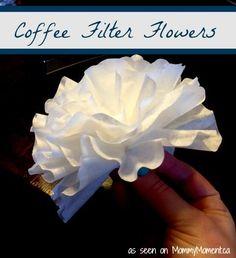 Coffee Filter Flowers - a fun craft idea!