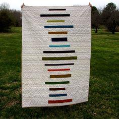 Modern Lap Quilt Jewel Tone Stripes by TwiggyandOpal on Etsy, $140.00