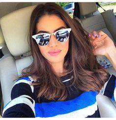 Love camila coelho new haircut Ray Ban Sunglasses Outlet, Clubmaster Sunglasses, Ray Ban Outlet, Sunglasses Online, Sunnies, Girls Selfies, New Haircuts, Tips Belleza, Hair Inspiration