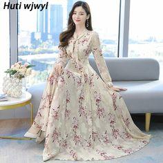 Simple Dresses, Casual Dresses, Fashion Dresses, Women's Dresses, Chiffon Floral, Vintage Midi Dresses, Robes Midi, Ballroom Dress, Spring Dresses