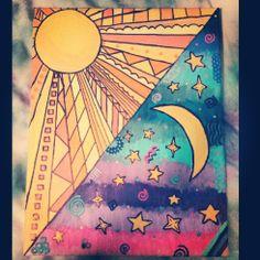 Sun and Moon Canvas