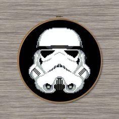 Storm Trooper Helmet PDF Cross Stitch Pattern
