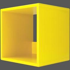 iCube LP100 Zest Yellow Vinyl LP Record Storage Cube