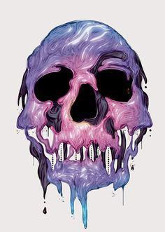 purple skull - Looking for the author     @Yeyocoreart