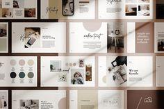 Kymila - PowerPoint Brand Template by bilmaw creative Design Blog, Art Design, Graphic Design, Design Ideas, Design Inspiration, Design Layouts, Modern Design, Power Points, Photoshop