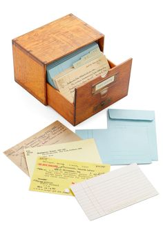 Long Overdue Notecard Set | Mod Retro Vintage Desk Accessories | ModCloth.com MAHAHAHA! LIBRARY!