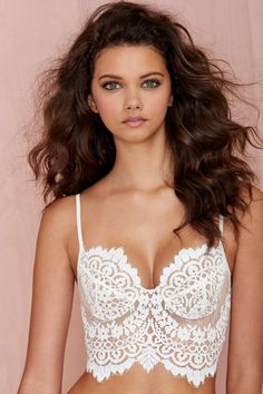 SKIVVIES She's a Knockout Lace Bra - White | Shop Clothes at Nasty Gal