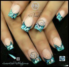 NZ Koru Silver Fern & Paua Shell Nails