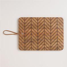 Herringbone Etched Wood Cutting Board | World Market