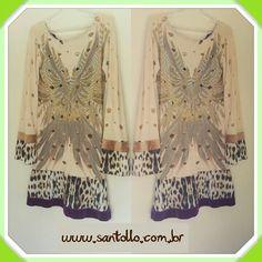 ✋✋✋STOP!!! Vestido baphônico da @moikana com manga sino detalhe onça barra e manga com estampa Apache.  Opção para você mulher antenada nas tendências e que tem estilo.  Compre agora ⬇⬇⬇ www.santollo.com.br  WhatsApp : (34) 8811-2985  Comercial : (34)3316-6586  Rua : Juca Marinho 15 Uberaba-MG  #dress #luxo #love #luxo #chic #outono #inverno #fall #winter #lookslikes #BLOGGERS #ootd #moikana #newcollections #santólloonline #vemprasantóllo #uberaba #minasgerais #brazil