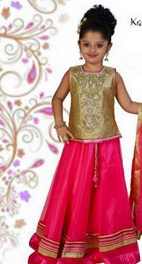 Pink Readymade Exclusive Kids Salwar Kameez
