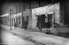 A second-hand clothes shop in the Gorbals area of Glasgow. The Gorbals tenements were built quickly and cheaply in the providing housing for Glasgow's burgeoning population of industrial. Get premium, high resolution news photos at Getty Images Gorbals Glasgow, The Gorbals, Second Hand Clothing Stores, Second Hand Clothes, The Blitz, Glasgow Scotland, Through The Window, Slums, Nice View