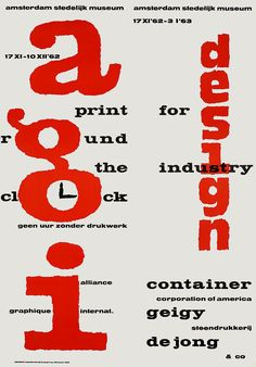 AGI, Print for Industry, Stedelijk Museum Amsterdam, 1962-1963