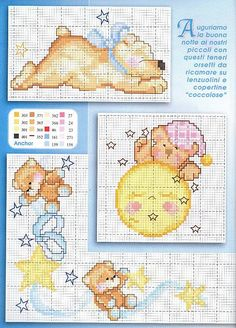 Children's Pig Cross Stitch Patterns with Readable Key Cross Stitch Fairy, Cross Stitch Angels, Cross Stitch For Kids, Funny Cross Stitch Patterns, Cross Stitch Charts, Cross Stitch Designs, Cross Stitching, Cross Stitch Embroidery, Ben Y Holly