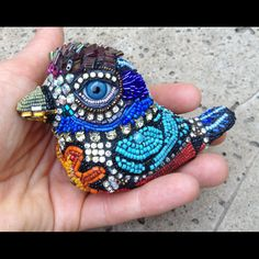 Pablo the Beaded Bird by betsyyoungquist on Etsy, $900.00