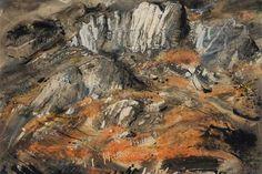 John Piper - Rocks at Capel Curig