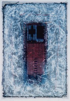 Takahiko Hayashi ~ D-21, 1996  (paper making, painting, collage)