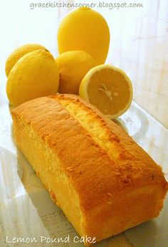 Grease and line the pound cake pan with baking paper. Shift the flour, baking powder and ground almond. In a clean bow, beat the butter then gradually add in. Lemon Desserts, Lemon Recipes, Just Desserts, My Recipes, Snack Recipes, Dessert Recipes, Cooking Recipes, Favorite Recipes, Lemon Cakes