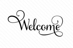 Welcome (SVG Cut file) by Creative Fabrica Crafts · Creative Fabrica Welcome Font, Welcome Stencil, Welcome Design, Silhouette Cameo Projects, Silhouette Design, Silhouette Curio, Silhouette Portrait, Vinil Cricut, Welcome Home Crafts