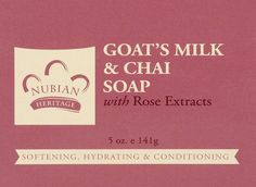 Nubian Heritage Soap Bar Goats Mlk Chai ** Read more reviews of the product by visiting the link on the image. (This is an Amazon Affiliate link and I receive a commission for the sales)