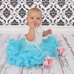 similar photo idea for baby girl