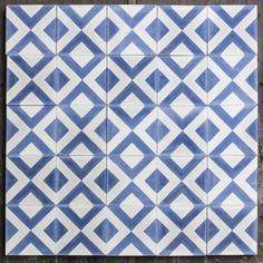Patterned Cement Tiles for Sale from Bert & May Landing Decor, Gold Taps, Large Shower Heads, Tiles For Sale, Spanish Design, Encaustic Tile, Blue Tiles, Handmade Tiles, Tile Patterns