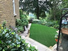 Artificial grass is great for lawns of all shapes and sizes! If you find it tricky to care for a natural lawn because of the unsusual shape, fake grass is a fantastic alternative.