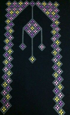 This Pin was discovered by HUZ Cross Stitch Geometric, Beaded Cross Stitch, Geometric Rug, Muslim Prayer Mat, Prayer Rug, Hand Embroidery Stitches, Knitting Stitches, Embroidery Needles, Cross Stitch Designs