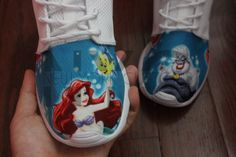 a0b7783ee9a0 Nike Roshe Run White The Little Mermaid Movie Ariel V5 Edition Custom Women  by NYCustoms on