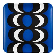 Square Serving Tray - Kaivo Print - Blue